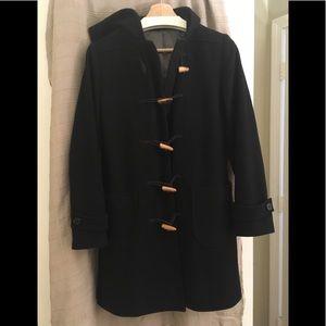 J Crew wool pea coat with wood toggles